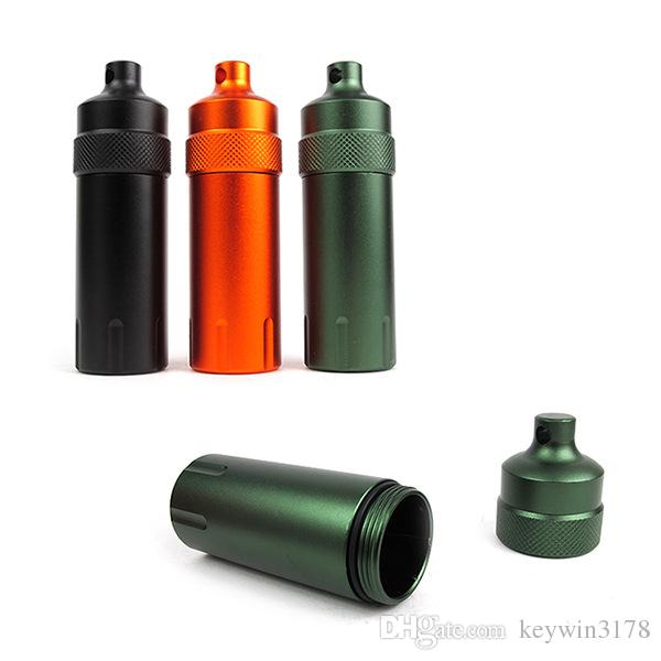 Outdoor Portable 10*3.2cm First-aid Appliance Storage Bottle Air-proof Medicine Mini Container Hermetic Aluminum Alloy Pill Box Whole Sale