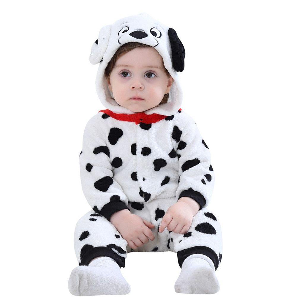 Cartoon-Mantel-Tierdruck-neugeborene Baby-Mädchen-Winter-Mantel-Spielanzug-Overall mit Kapuze Oberbekleidung aus Baumwolle Baby-Mantel