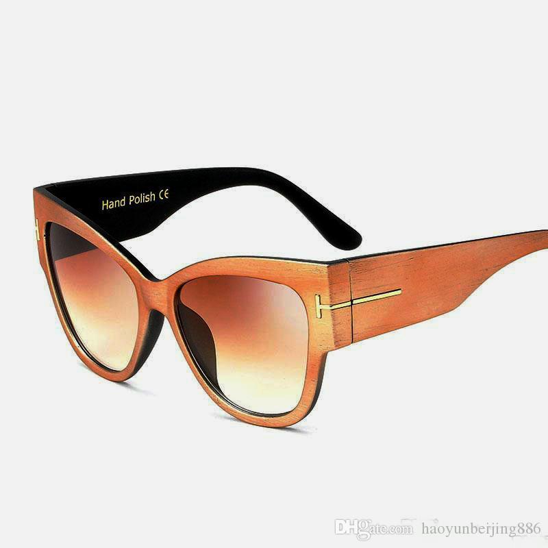 2019 Nueva TOYEARN Fashion Sexy Ladies Cat Eye Sunglasses Mujeres Vintage Marca Big T Frame Tom Gradient Gafas de Sol Mujer Oculos UV400 tom2