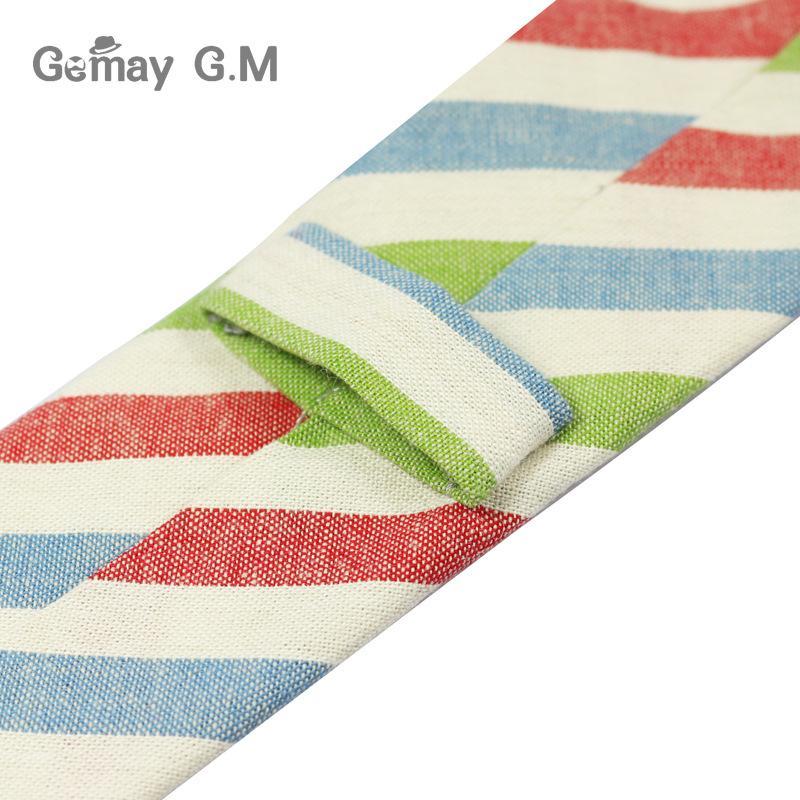 New Fashion Mens Ties 100% Cotton Necktie for Men Causal Stripe Tie For Man Bussines Corbatas Bridegroom Party Slim Neckties
