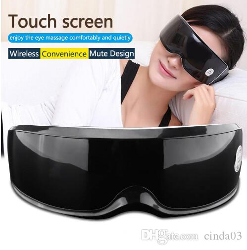 Health Electric Vibration Eye Massager Touch Display Eyes Care Fatigue Relieve Magnet Therapy Eye Care Massager