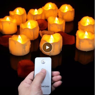 Confezione da 12 a distanza o meno remoto Capodanno candele, pile condotto le luci di tè, Tealights falso Led candela della candela di Pasqua