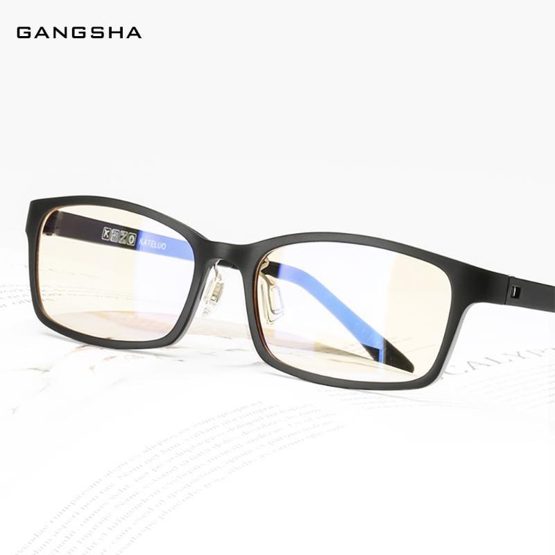 GANGSHA Ordinateur Lunettes Cadre Femmes ULTEM optique ultra-léger carré de lunettes cadre clair Bleu Lumière Lunettes Mâle Lunettes 1310