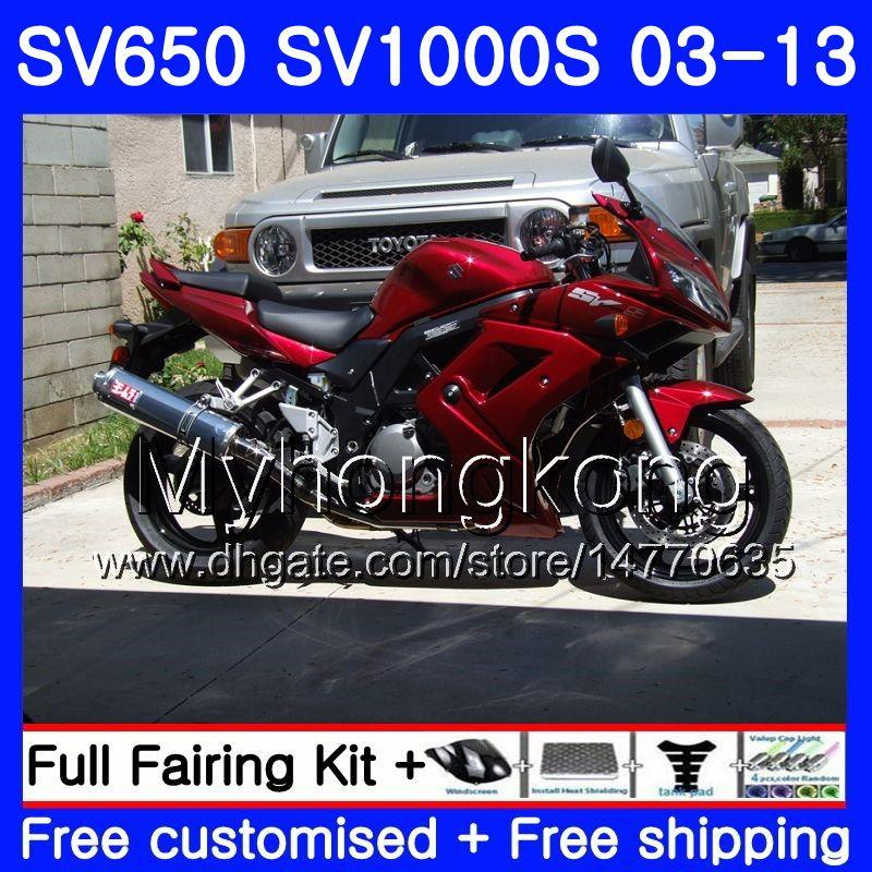 Complete Screws and Fasteners kit SV 1000 2003 2004 2005 2006 2007 2008 2009 Suzuki SV1000 03 04 05 06 07 08 09 Motorcycle Fairing Bolt Kit