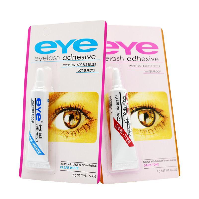 Drop Ship avec Emballage Colle Clear Clear-Blanc / Dark-Noir Imperméable Imperméable Faux Cils de maquillage Eye de maquillage