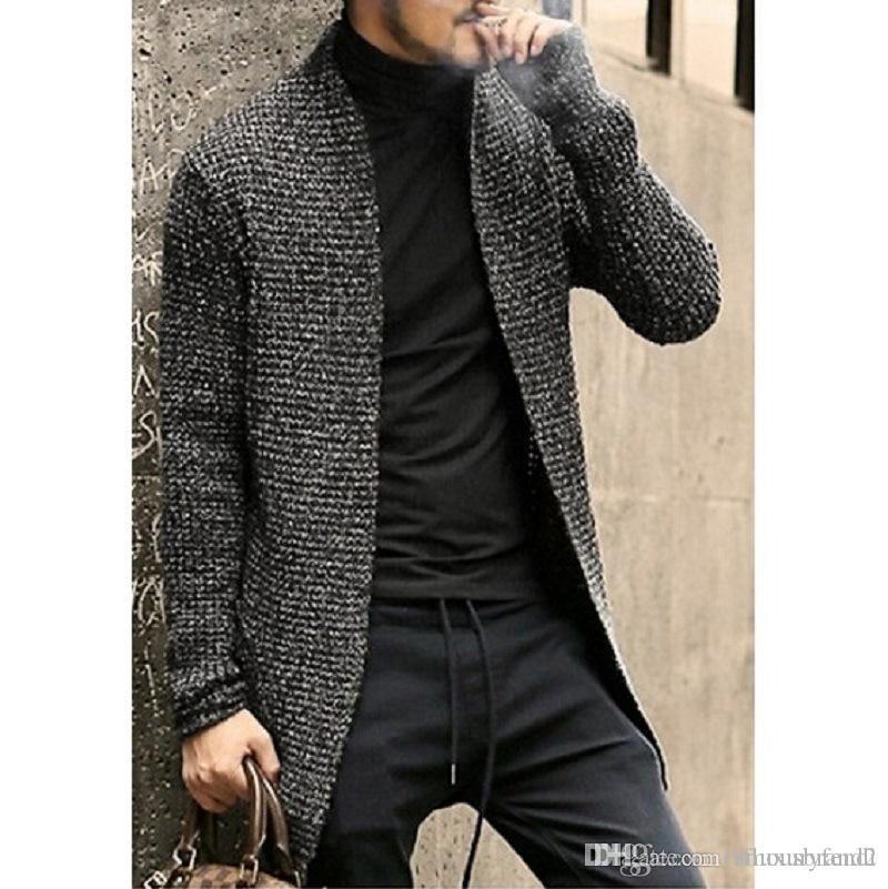 Mens Herbst Designer Pullover feste lange Cardigans Frühling Designer Art und Weise beiläufige Sweatshirts
