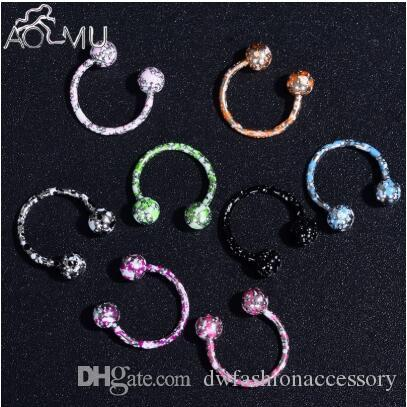 2020 16g 18g Nose Septum Ring Lip Nipple Eyebrow Lobe Rings Hoop