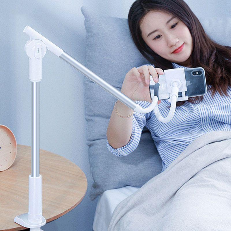 360 Вращающаяся Гибкая Long Arm Ленивый телефон владельца Регулируемая кровать Desktop Tablet клип для iPhone Xiaomi Мобильный телефон владельца