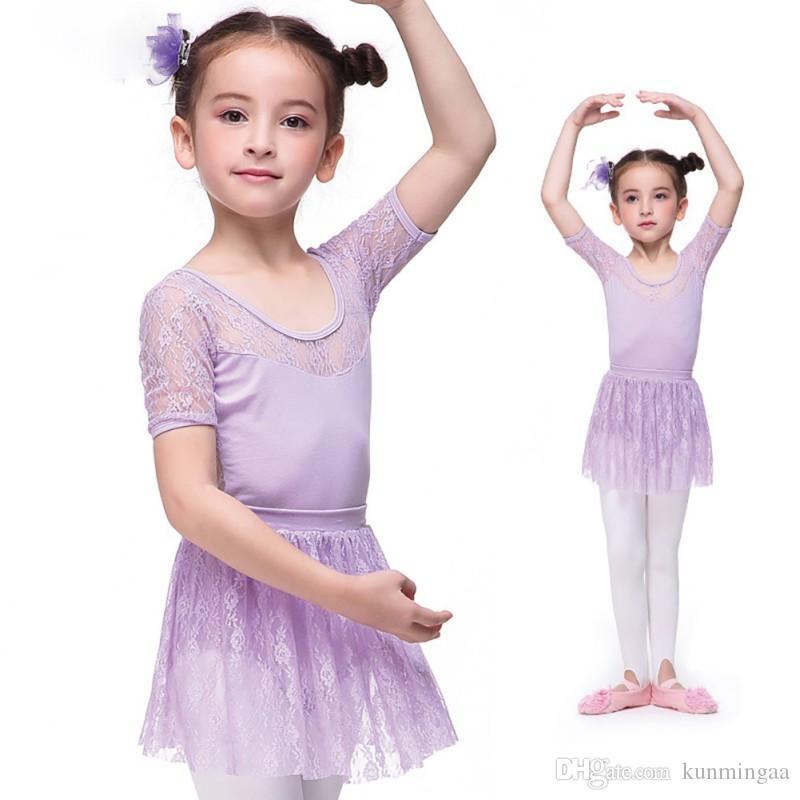 Tutu di balletto del costume del vestito ragazze vestiti dei bambini del merletto della ballerina di balletto dei capretti Dress Dancewear Danza Bambini Baby Dress per la ragazza