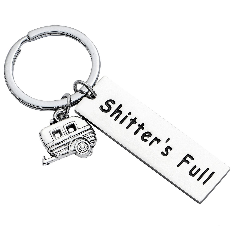 12PC Shitter 'S غير القابل للصدأ الصلب كاملة أقراط سعيد العربة التخييم مقطورة سحر قلادة الحلي النساء الرجال الأصدقاء حزب الهدايا