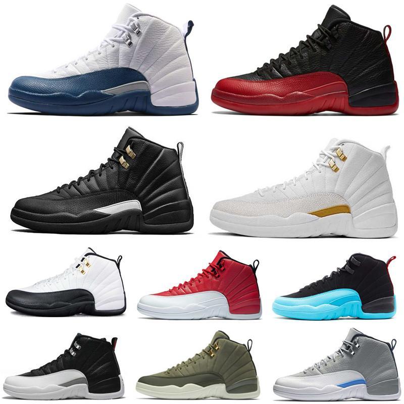 Hochwertige Herren-Basketball-Schuh-12 Frankreich, Blau, Rot Bordeaux Taxi Dunkelgrau 12s Männer Frauen Designer Sneaker Sportschuhe US-Größe 7-13