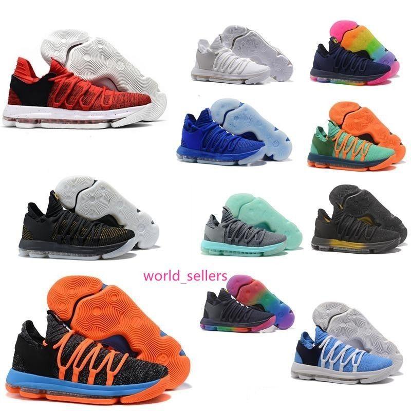 Yeni Yakınlaştırma KD 10 Basketbol Ayakkabı Yıldönümü Üniversitesi Kırmızı Hala Kd Igloo BETRUE Oreo Erkekler ABD Kevin Durant Elite KD10 Sport Sneakers KDX