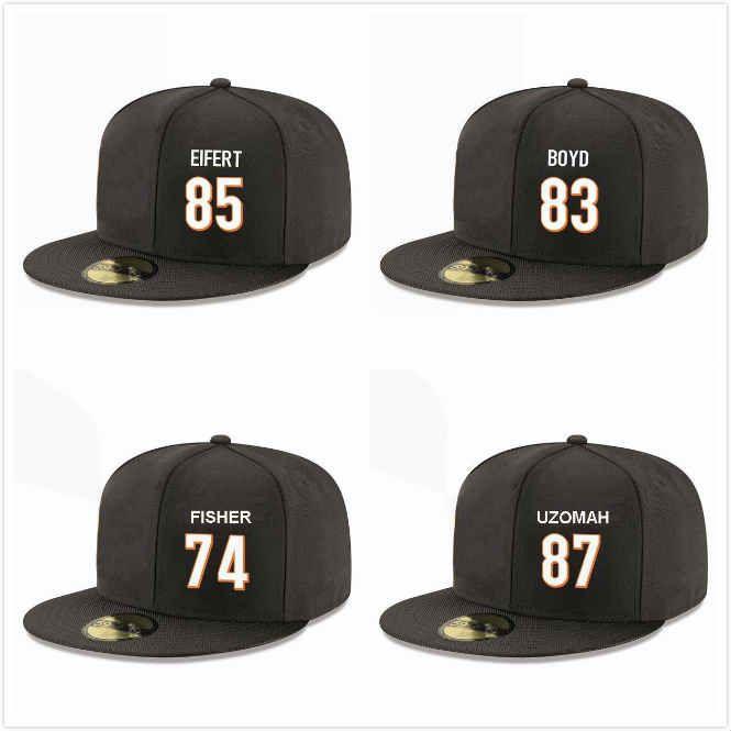 Ordinazione di baseball cappelli di Snapback John Jerry Cethan Carter Tyler Eifert C.J. Uzomah Keaton Sutherland Andrew Brown protezioni registrabili