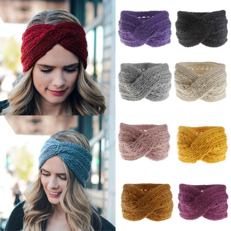 USA delle donne delle signore calde ragazze in maglia fascia dei capelli della fascia di sci paraorecchie invernali