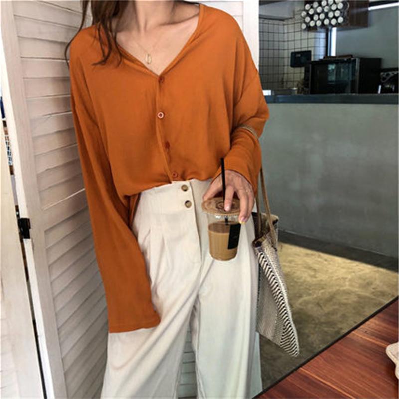 Korean Women Silk Blouses Women Satin Shirts Elegant Woman Long Sleeve Shirt Plus Size Woman V-Neck Blusas Femininas Elegant