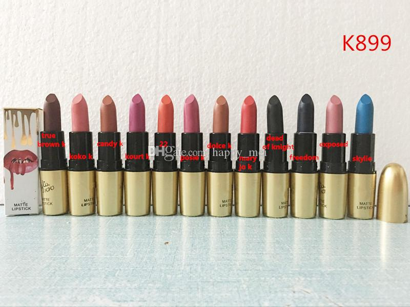 Factory Direct DHL Free Shipping New Makeup Lips Hot Brand K899 XoXo Matte Lipstick!3.5g