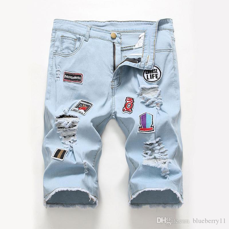 2020 Новая распродажа прохладный короткие шорты джинсы мужские карманы тонкие моды брюки подходят мужские шорты летние горячие спорт повседневная Njkol