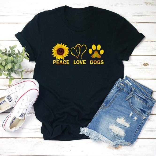 Crew Neck Ladies Tops Casual Loose Comfortable All Match Clothing MultiColor Print Fashion Womens Tshirt Short Sleeve