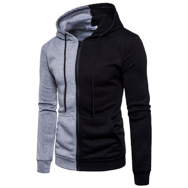 Men Hoodies 2020 Autumn New Male Splice Simple Casual Pullover Hoodies Mens Sweatshirts Hoodie Top Sportswear EU Size S-2XL