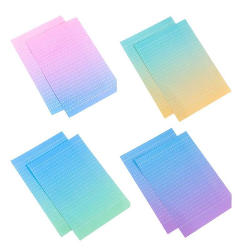 1set = (4 листа почтовой бумаги 2pcs Конверты) Градиент Письмо Цвет Запись Pad Студенты Набор / комплект подарков Бумажный офис C0J1