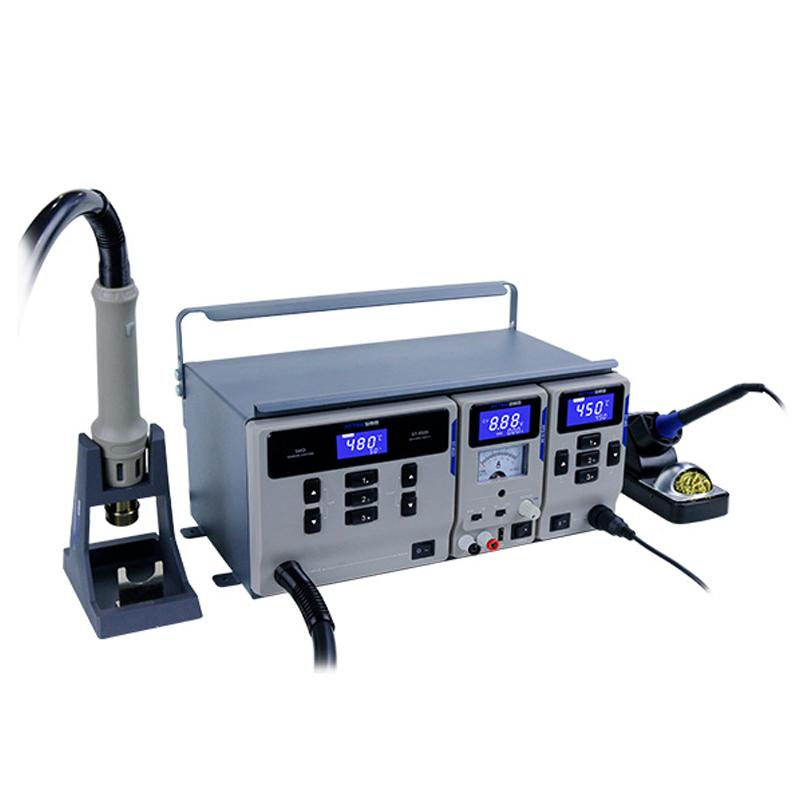 ATTEN MS-300 SMD Soldering Rework Station 3 IN 1 Combination Maintenance System for Soldering Desoldering DC Power Supply Repair