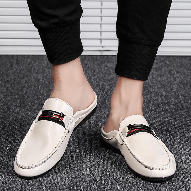 MOOREGOOD Весна Лето мужских Мокасины легкая удобная плоская Повседневная обувь Мужчины дышащий Продеть вождения обуви