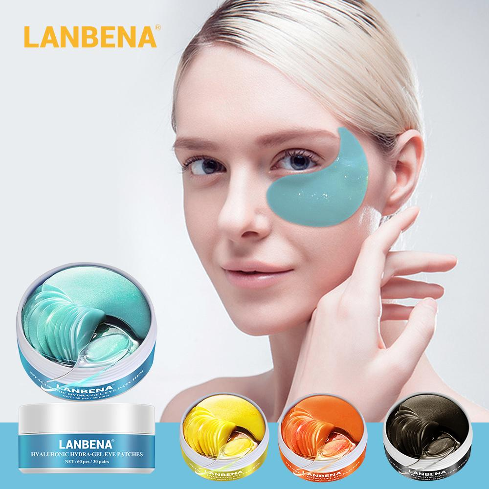 LANBENA العين قناع جل الريتينول الذهب الكولاجين تصحيح العين تقليل الدوائر الداكنة منتفخ عيون الجميلة خطوط مكافحة الشيخوخة مرطب العناية عيون