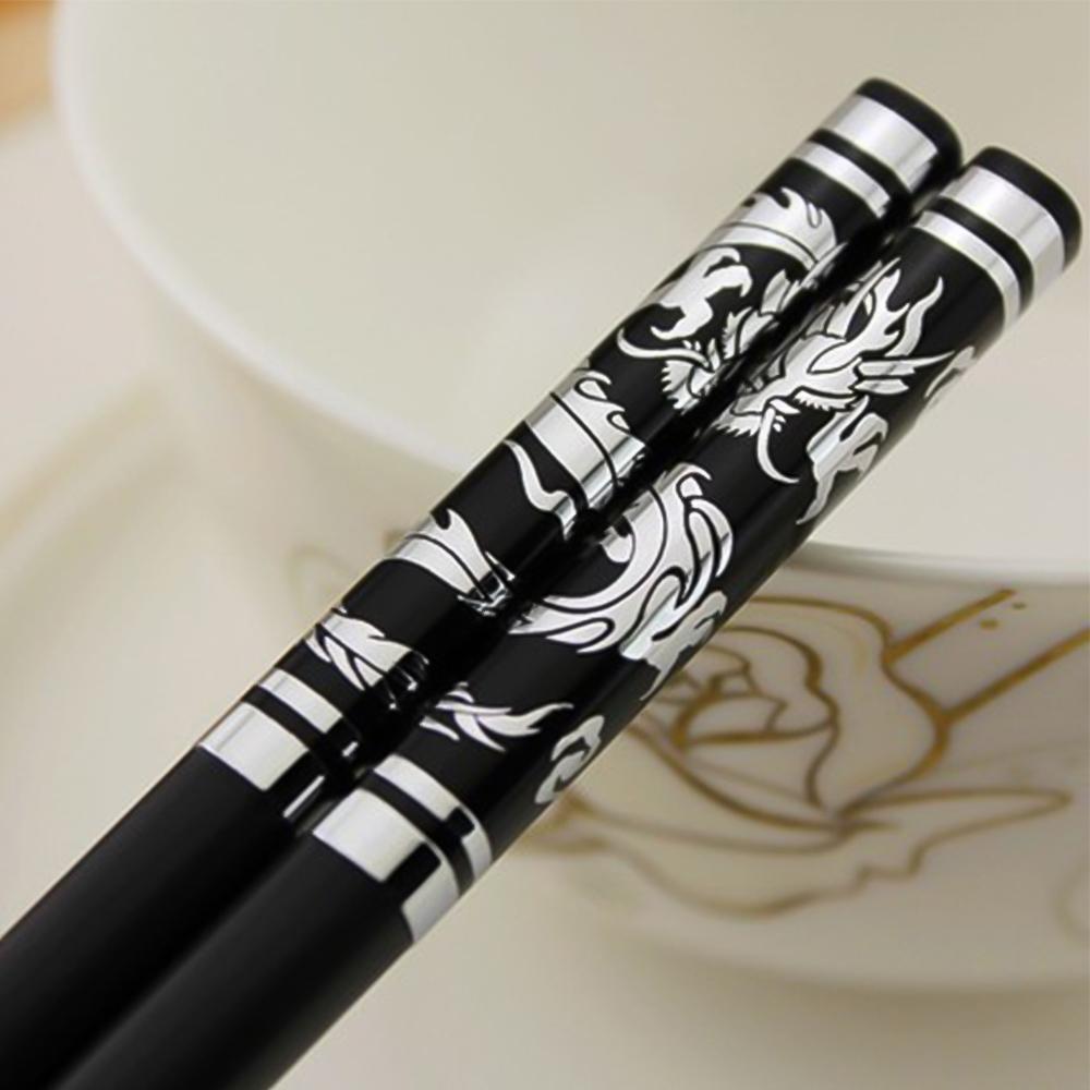 Dynamovolition 1 Paire de Baguettes japonaises en Alliage Anti-d/érapant Bois Couleur Sushi Chop Sticks Ensemble Cadeau Chinois Famille Amis coll/ègues Cadeaux