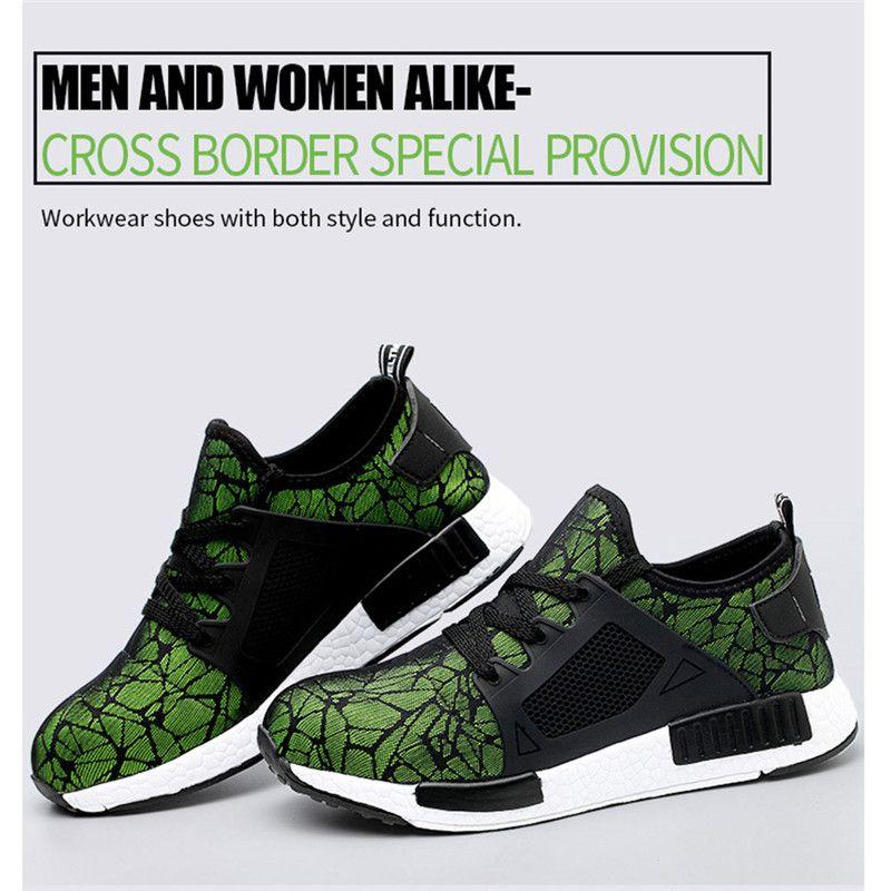 تنفس الصلب تو كاب أحذية السلامة للرجال في الهواء الطلق المضادة للانزلاق الصلب ثقب سلامة البناء الأحذية أحذية العمل