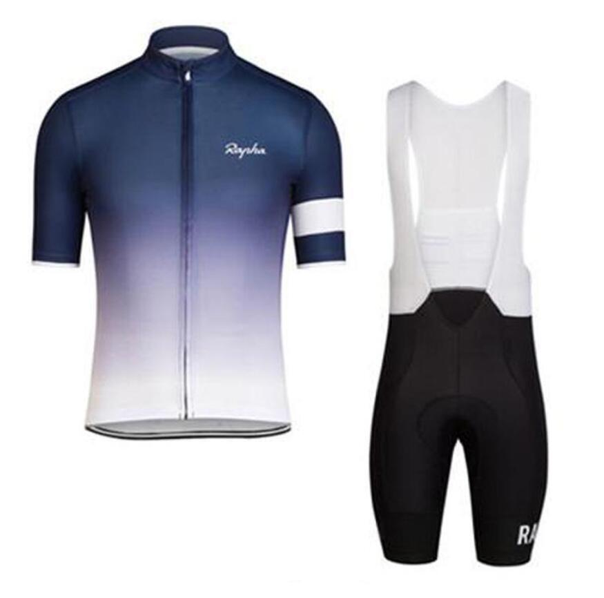 Rapha verão homens de manga curta desgaste cycling jersey bicicleta roupa jardineiras SET MTB uniforme PRO roupas de ciclismo bicicleta Maillot XS-4XL zefengst
