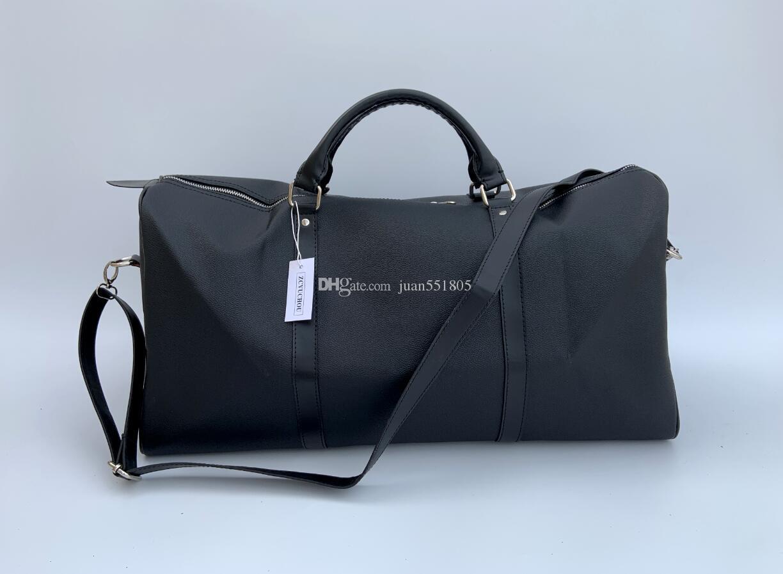 3 개 색상 블랙 브라운 더플 백 남녀 공용 여행 가방 방수 캐주얼 비치 운동화물 가방 캔버스 비밀 보관 가방 54cm