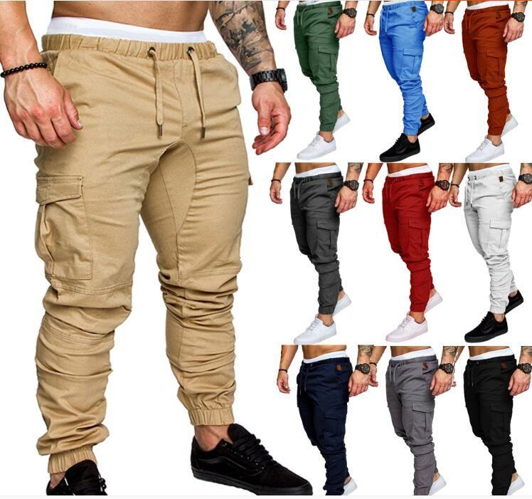 Compre Diseno De Lujo Para Hombre Joggers Pantalon Casual Hombre Pantalones Trajes De Tacticas Pantalones Elasticos De La Cintura De Carga Pantalones De Moda Del Basculador A 12 74 Del Zhoujian517814 Dhgate Com