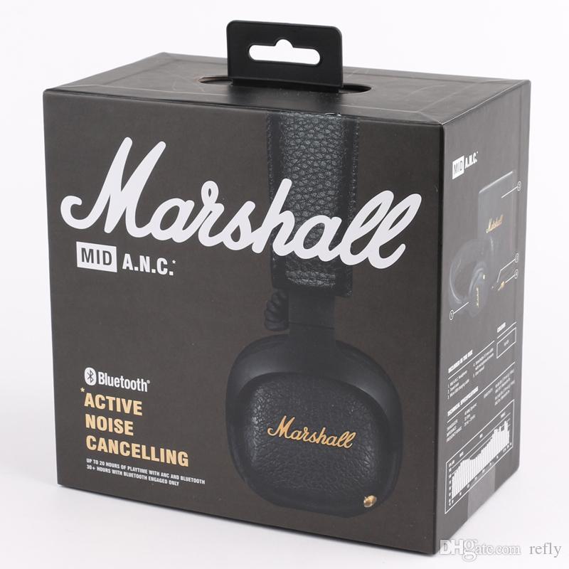 Marshall MID ANC Bluetooth-наушники с активным шумоподавлением беспроводные DJ-наушники с глубоким басом игровая гарнитура для iPhone Smart Phone