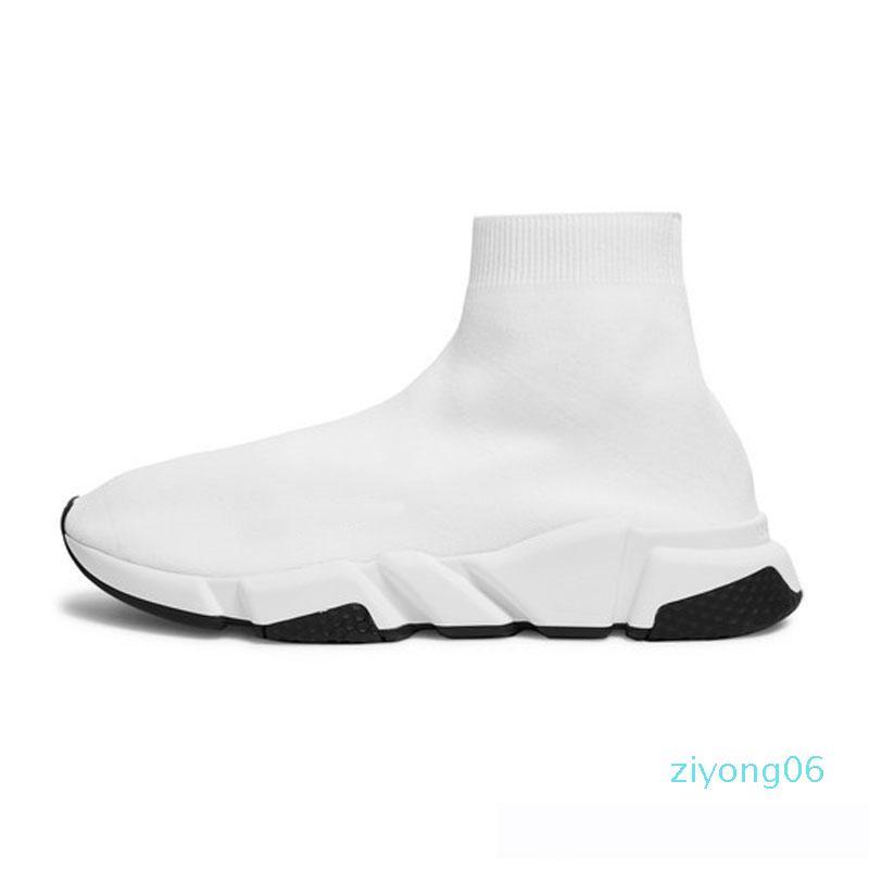 New Shoes calzino casuali lace-up di lusso Designer stringate sportive Speed Trainer Marca Triple modo di marca Black Socks Trainer Sneakers 36-45Z06