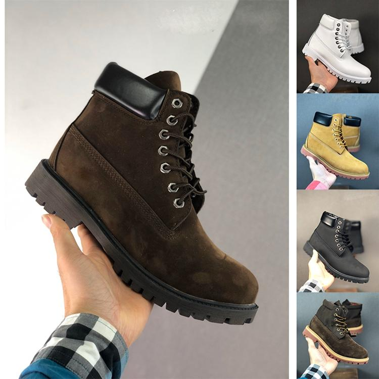 Высокое качество женщины и мужская водонепроницаемый мужчины сапоги Тима Сафти высокой загрузки вырезать берляндии обувь на открытом воздухе походы кроссовки полное зерно кожа