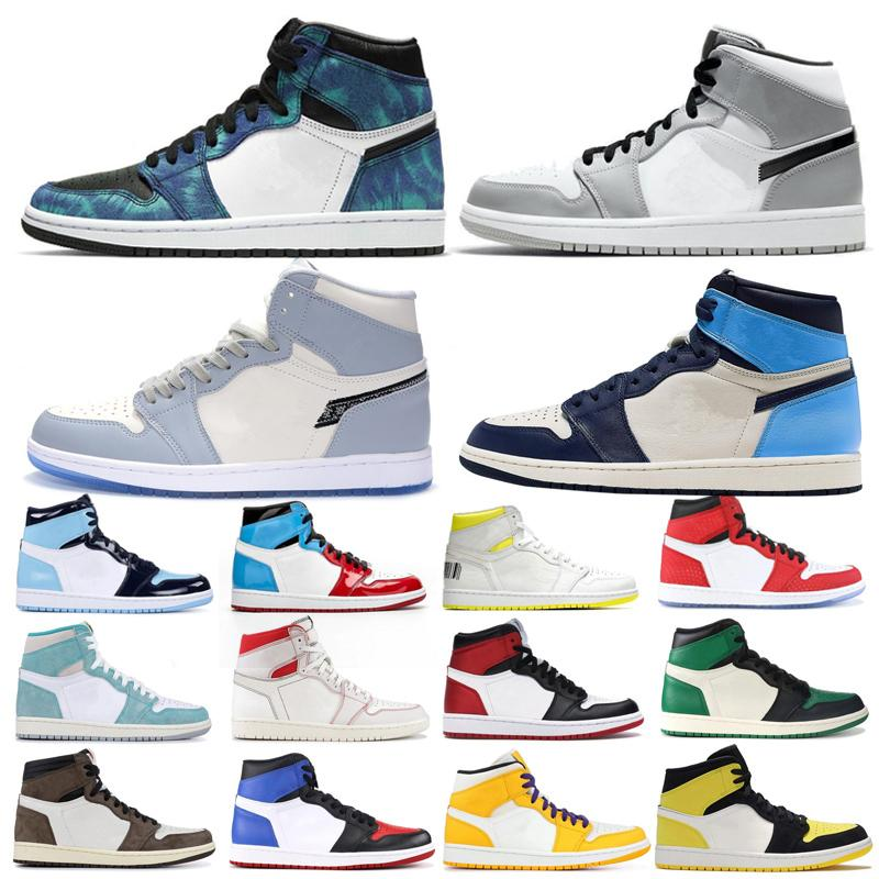 7339044 1 High Travis Shoes Scotts alta Destemido Obsidian Mens Basketball Spiderman UNC 1s top 3 Banned Toe Bred Mulheres sapata do esporte