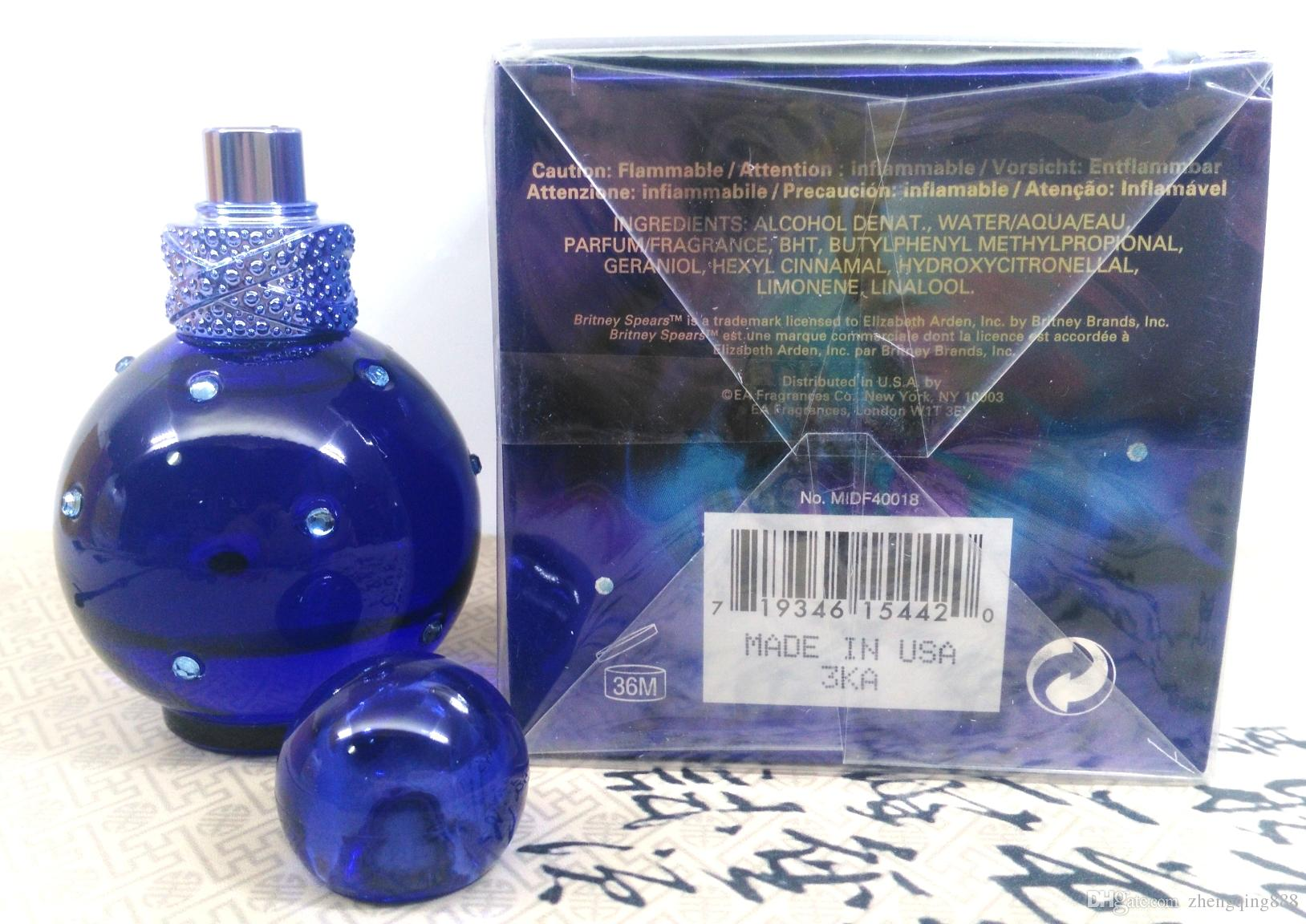 Best Selling Hot Blue Midnight Fantasy Perfume Lasting 100ml Manly Woody Notes Fresh Fragrance Lasting Perfume Factory Price Free Shopping Create Your
