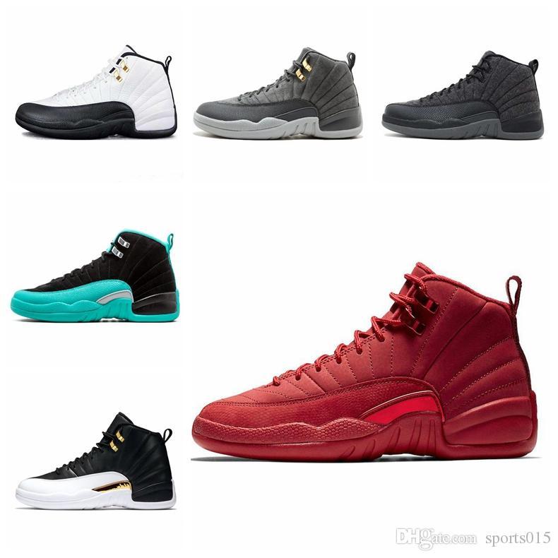 12 12 s Basketbol ayakkabıları mens Kışlık siyah WNTR Spor salonu için kırmızı Grip oyunu GAMMA MAVI Taksi usta erkekler Spor Sneakers boyut 7-12