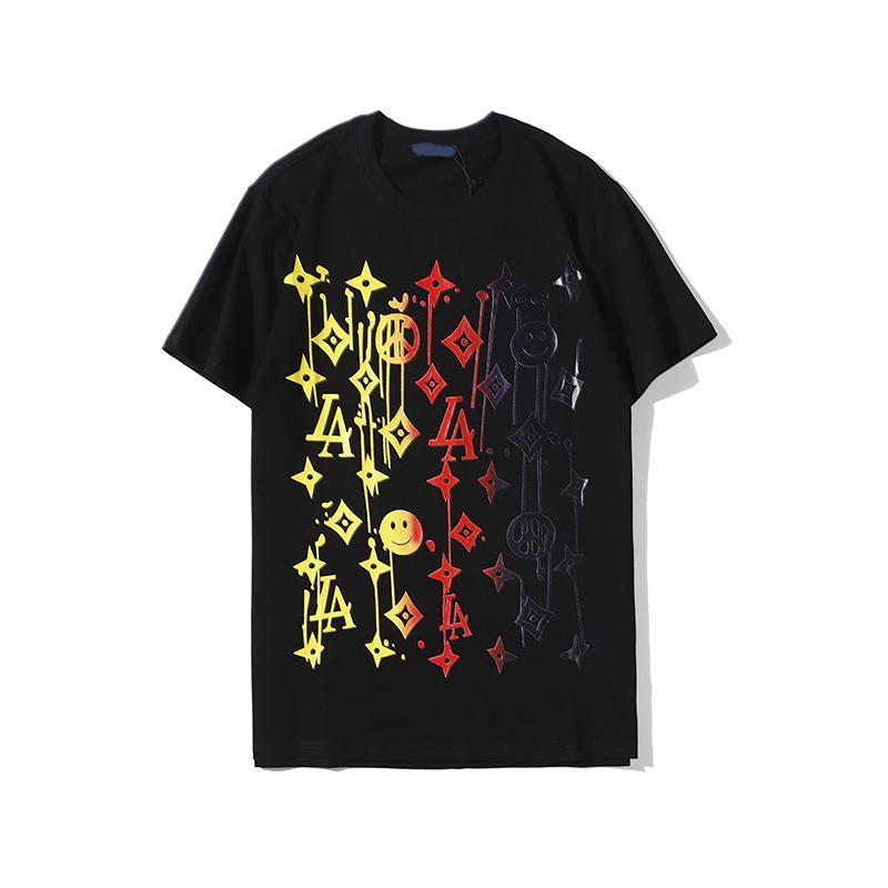 Yüksek kaliteli moda lüks tasarımcı erkek tişört erkek alfabe gömlek yaz kısa kollu erkek tişört Medusa tişört giyim S-3XL