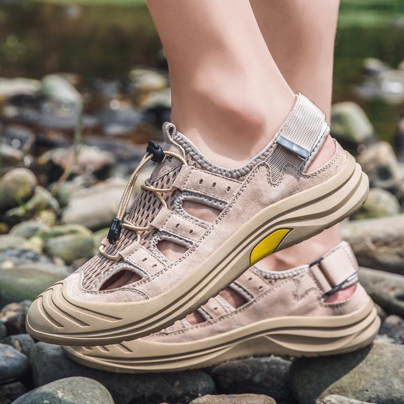 Sandalias al aire libre correr verano zapatillas zapatos moda hombres aire cómodo cuchilla sandeles deporte sandles deslizamiento ligero