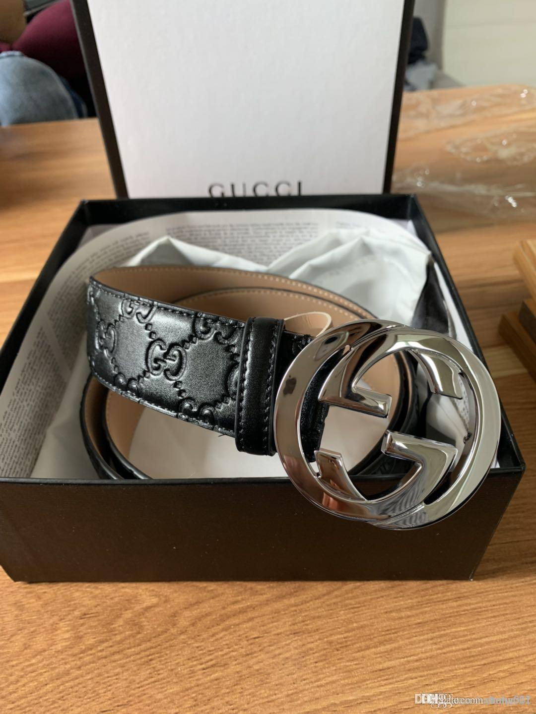 2019 new hot design fashion leather belt men and women luxury business belt with the box