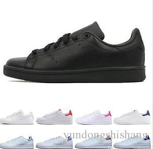 Diseñador mujeres hombres zapatos stan moda smith zapatillas casual zapatos triple blanco negro verde cuero deporte clásico pisos tamaño 36-44