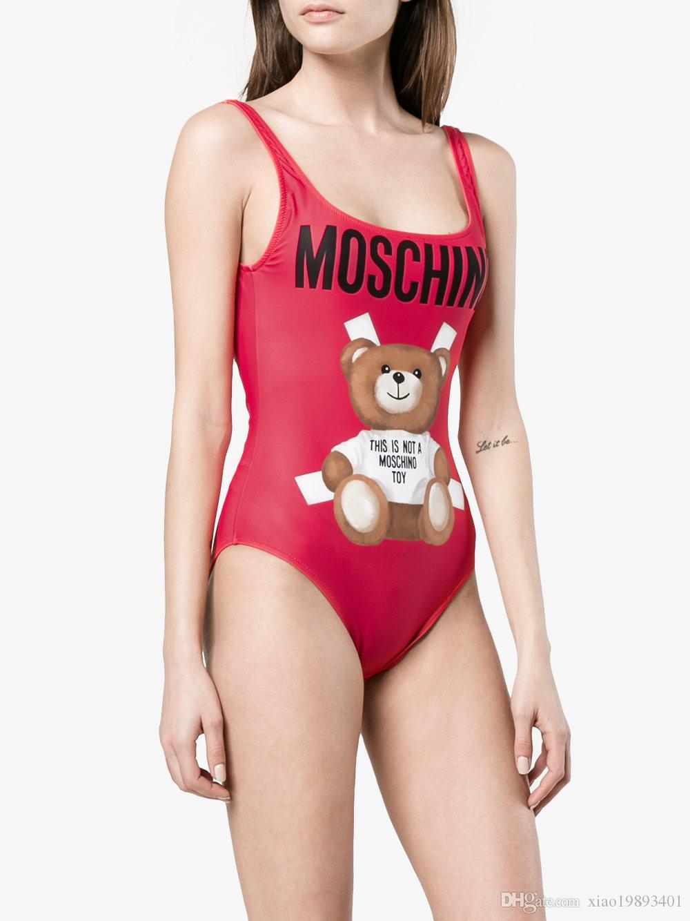 MOSC Petit mode Ours Maillots de bain Bikini maillot de bain pour les femmes Lettre Bikinni Taille du maillot de bain sexy de la S-XL