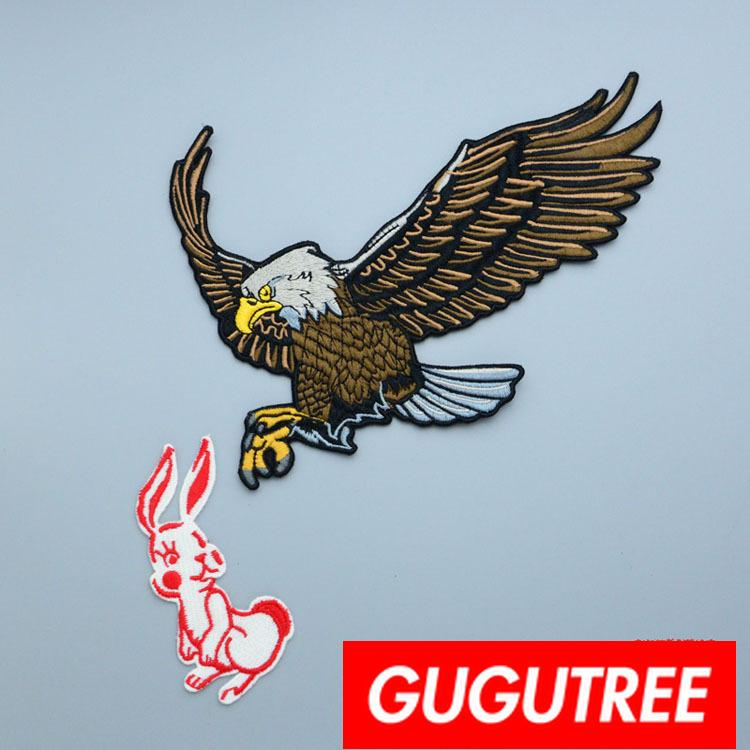 GUGUTREE embroidery big patches eagle patches badges applique patches for clothing BP-769