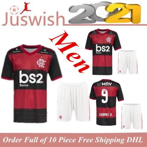Uomini Camisa camicia 2020 2021 CR Flamengo maglie di calcio 20 21 fiammingo GABRIEL B. DIEGO Vinicio JR Versione Brasile Flamenco KIT calcio