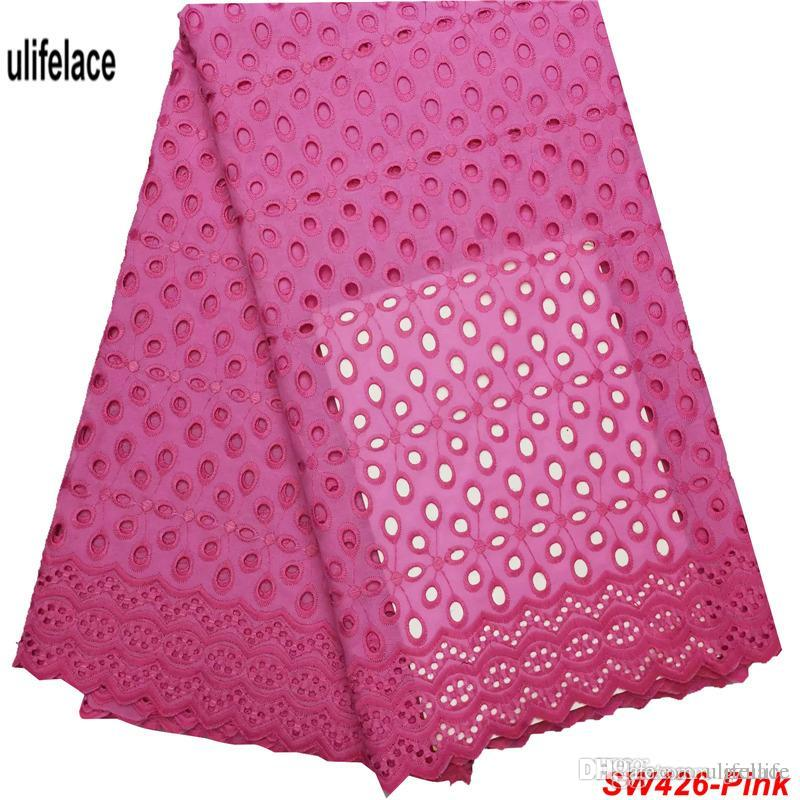 Swiss Voile Cotton Lace Fabric 2019 African Swiss Voile Laces In Switzerland High Quality Swiss Dry Eyelet Laces For Dress SW-426