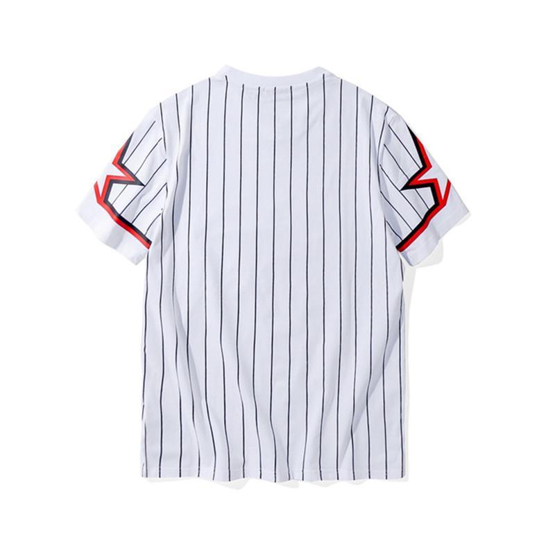 Luxo Camiseta Hip Hop listrado Mens Printing Designer T Shirt Polo Homens Mulheres Verão Camiseta manga curta Tees Tamanho S-XXL45345