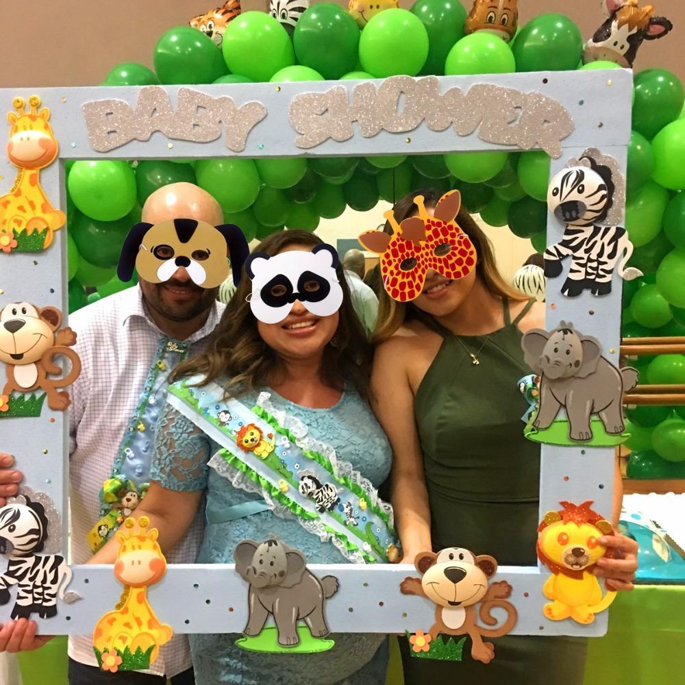Baby Shower Safari Nino Decoracion.Fengrise Eva Foam Animal Masks Face Zoo Jungle Party Mask Birthday Party Decorations Kids Baby Shower Safari Party Decor Party Decor Supplies Party