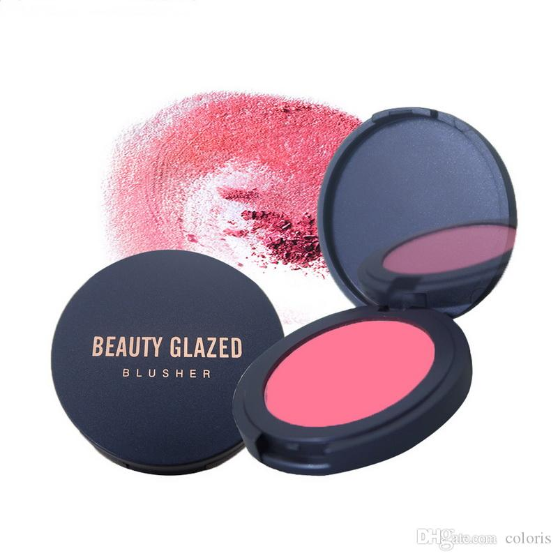 Beauty Glazed Pigment Polvere Blush Blush Volto minerale compatto Blushs 8 Colors Private Label Blush Trucco