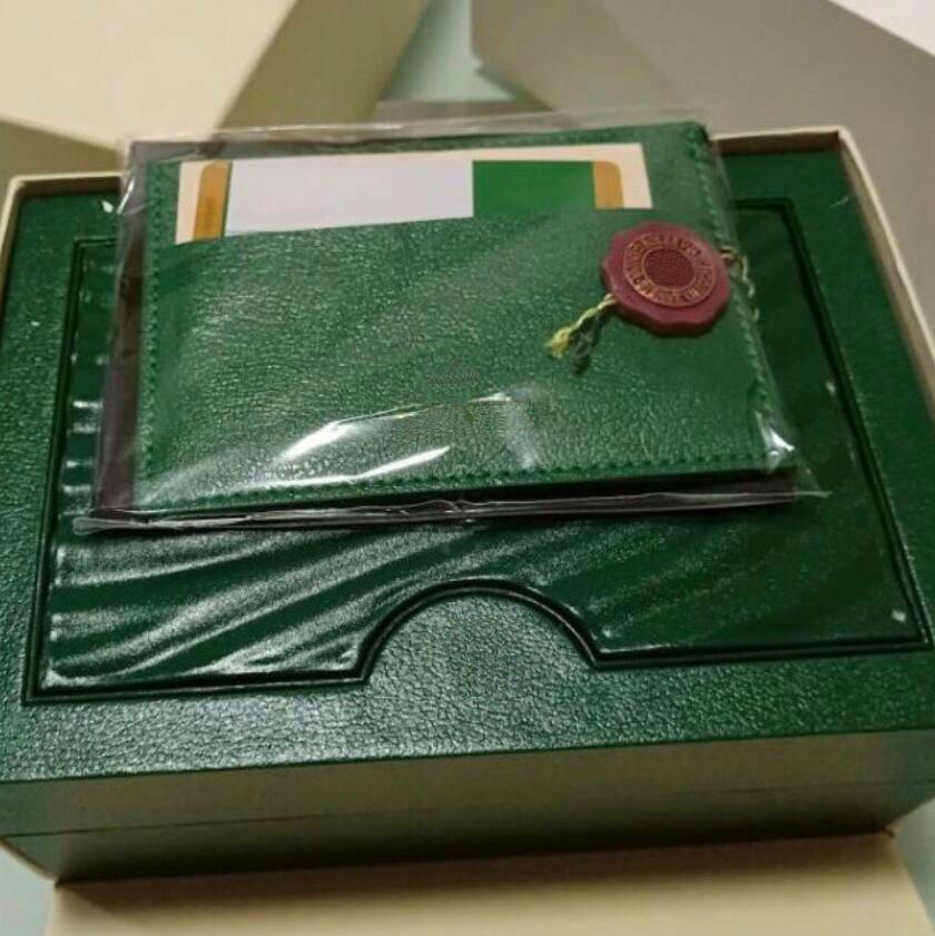 Kartlar ve Kağıtlar Sertifikalar Çanta Yeşil Marka İzle Kutusu Orjinal 116660 126660 Saatler boks